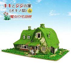 F/S Kiki's Delivery Service kiki & Jiji house Ghibli paper craft from Japan #10