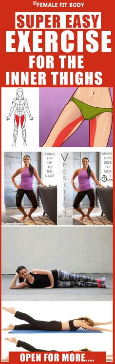 Target the tricky-to-hit inner thigh muscles (and the surrounding ones) with this strengthening and toning workout: Summer Body Workouts, Toning Workouts, Easy Workouts, Best Inner Thigh Workout, Inner Thigh Muscle, Thigh Exercises, Thigh Workouts, Thigh Muscles, Yoga Fitness