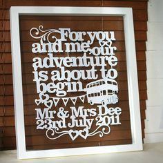 Personalised Words Papercut