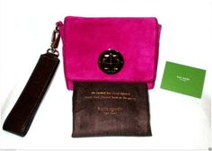 AUTHENTIC (NWOT)Kate Spade Algonquin Shania Suede Clutch/Wristlet (NEVER USED) - $186