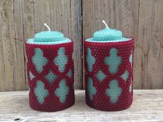 Regal/ Vintage Beeswax wrapped Candles