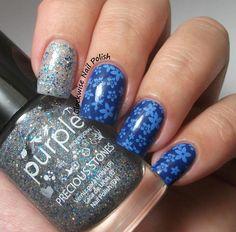 The Clockwise Nail Polish: Kiko 519 Blu Cobalto & Purple Professional 79 Saphire