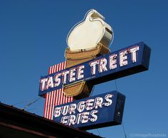 The Tastee Treet in Prineville, Oregon. Great food & an incredible neon sign.