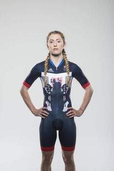 Team GB launch the new Adidas kit for the Olympic games in Rio designed by Stella McCartney Cycling Suit, Women's Cycling Jersey, Cycling Jerseys, Olympic Winners, Olympic Team, Laura Trott Cycling, Team Gb Kit, Laura Kenny, Team Gb Olympics