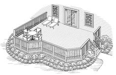 Eplans Deck Plan - Multi-Use Deck Space Perfect for Entertaining from Eplans - House Plan Code HWEPL74864