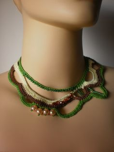 Crocheted Necklace and beads