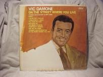 """VIC DAMONE ON THE STREET WHERE YOU LIVE """"VINTAGE"""" LP"""