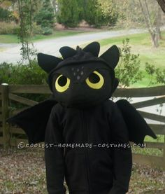 How to Train Your Dragon Homemade Toothless Costume… Coolest Halloween Costume Contest