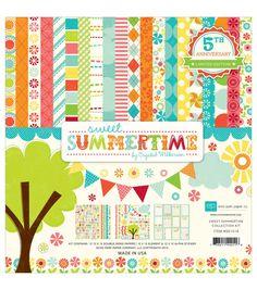 Echo Park Paper Company™ Sweet Summertime 12''x12'' Scrapbooking Kit