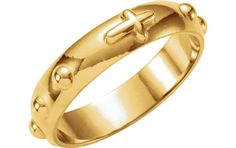 14k Yellow Gold Rosary Ring (Size 5) This elegant rosary ring is finished in 14k yellow gold and fashioned with Braille-like prayer Read more http://shopkids.ca/14k-yellow-gold-rosary-ring-size-5/