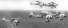Flight of Fairey Swordfish of No.820 Squadron, HMS Ark Royal