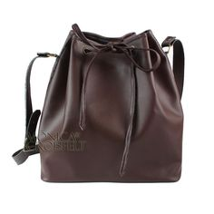 Bolsa Saco Pouch Bucket Bag Básica Casual Marrom Café  #fashion #moda #itbag