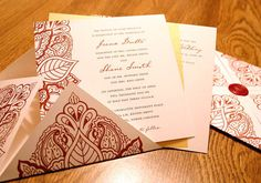 White & Maroon stationary...nice fusion of colours