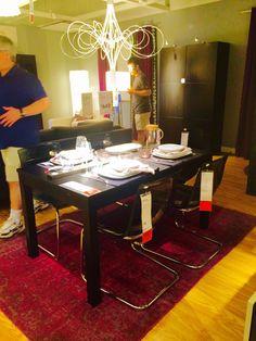 Ikea BJURSTA table and TOBIAS chair dining set
