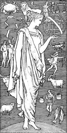 Free Image on Pixabay - Zodiac, Astrology, Line Art Illustration Tumblr, Photo Illustration, Free Pictures, Free Images, Tarot, Scrapbook Blog, Old Mother, Scroll Saw Patterns, Gods And Goddesses