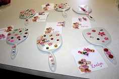 Cute craft idea for a birthday party maybe?