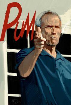 Gran Torino - Clin Eastwood #ilustraciones #películas