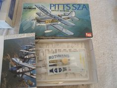 LS #A191 1/72 Rothmans Aerobatic Pitts S2A  Plastic Military Airplane Model Kit #LS