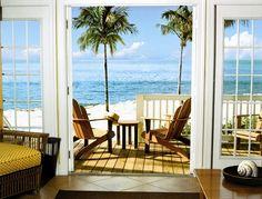 Beautiful, tropical, relaxing porch at Tranquility Bay Beach House Resort (Marathon, FL) - ResortsandLodges.com
