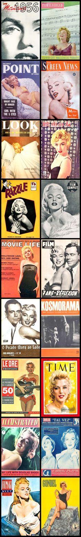 1956 magazine covers of Marilyn Monroe .... #marilynmonroe #normajeane #vintagemagazine #pinup #iconic #raremagazine #magazinecover #hollywoodactress #1950s