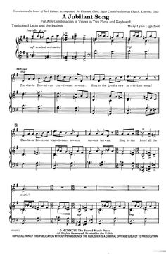 Give Me Oil in My Lamp (SA ) by EXNER| J.W. Pepper Sheet Music ...