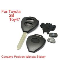 Remote Key Shell 2 Buttons TOY47 With Concave Without Paper For Toyota Corolla 10pcs/lot