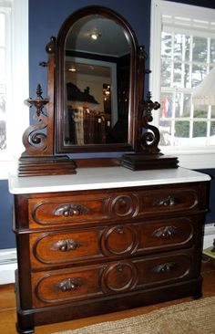 Victorian Dresser with original marble top