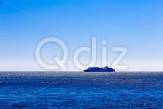 Qdiz Stock Photos | Cruise ship or liner in open ocean,  #Atlantic #blue #boat #cruise #international #liner #marine #moving #nautical #ocean #offshore #open #sea #ship #shipping #sky #transport #transportation #Travel #water #waterline