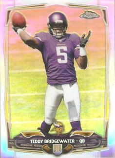 2014 TOPPS CHROME TEDDY BRIDGEWATER REFRACTOR ROOKIE #173 MINT FROM PACK