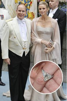 Charlene Wittstock's pear-cut diamond ring from Prince Albert is fit for a princess