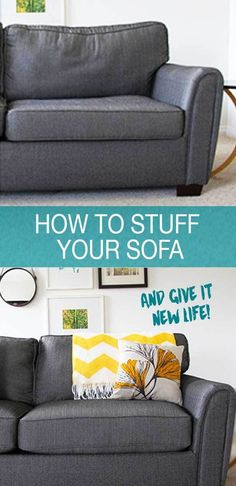 Superieur How To Stuff Your Sofa And Give It New Life! A Few Tips With Foam And Fibre  Fill And Youu0027ll Have Your Couch Feeling Brand New!