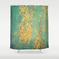 yellow+leaves+Shower+Curtain+by+Ingrid+Beddoes+-+$68.00