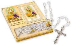 Communion Chalice Rosary Beads.
