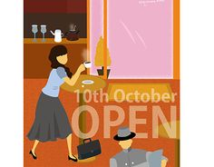 """Check out new work on my @Behance portfolio: """"A+ cafe postcard"""" http://be.net/gallery/43448947/A-cafe-postcard"""