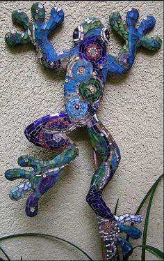 Bob, the mosaic yard frog.