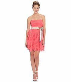 Teeze Me Strapless Corkscrew Dress #Dillards