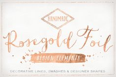 Rose Gold Foil Design Elements by Summit Avenue on Creative Market