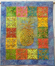 Pineapple quilt by Kate Berry (Tasmania, Australia).  Photo by Quilts to Dye For.