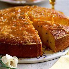 Orange and rosemary polenta cake from Delicious Magazine. A moist, fragrant gluten-free cake. #polenta #glutenfree #recipe
