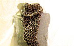 "Double crochet, 8 stitch, ""mint chocolate chip"" scarf"