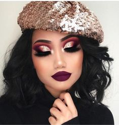Dramatic burgundy Want more?! Follow Pinterest @Beauteousvision✨