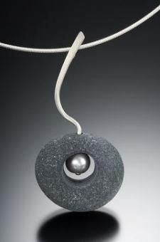 Stone and pearl pendant