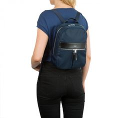 Mini Beauchamp Backpack in Navy | KNOMO | With a padded back panel and extendable long shoulder straps the small backpack has enough room to keep all your essentials organised