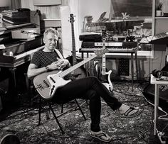 #AdamClayton at a studio in California #U2 (Photograph by @SamJonesPictures, via Christies.com)