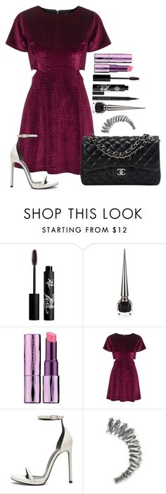 """""""Untitled #842"""" by fabianarveloc on Polyvore featuring Rouge Bunny Rouge, Christian Louboutin, Urban Decay, Topshop, Yves Saint Laurent, MANGO and Chanel"""