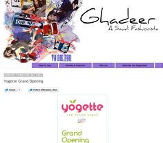 Ghadeer shared with her blog audience the invitation to our grand opening