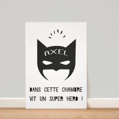 Affiche personnalisée Batman