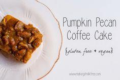 Fall is here! | Pumpkin Pecan Coffee Cake {Gluten Free & Vegan}