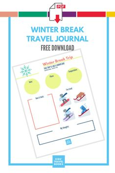 Going on a winter break family trip? Then get a travel journal template for that trip. It's free, fun, and goes with our free A-Z template, too! Trip Journal, Kids Travel Journal, Travel Activities, Winter Activities, Travel With Kids, Family Travel, Journal Template, Broken Quotes, Lovers And Friends