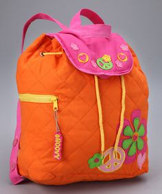 Take a look at this Peace Quilted Backpack by Stephen Joseph on #zulily today!
